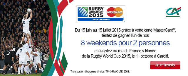 Jeu concours Rugby World Cup 2015